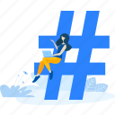communication, hashtag, media, message, network, networking, social icon