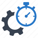 gear, productivity, time icon