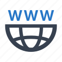 domain, internet, url, www icon