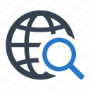 global, internet, search icon
