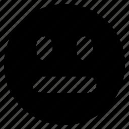 emoji, emotion, face, neutral icon