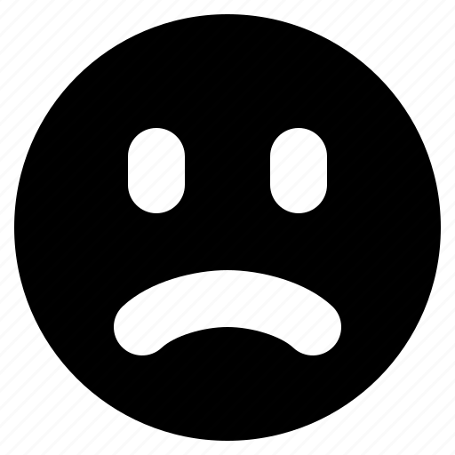 emoji, emotion, face, frown, sad, unhappy icon