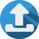 arrow, front, load, top, up, upload icon