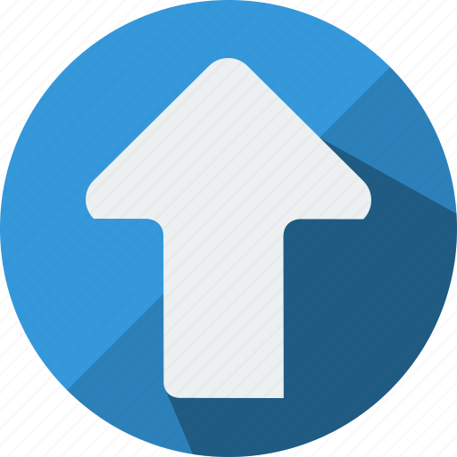 arrow, direction, load, move, top, up, upload icon