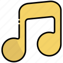 music, music note, song, note