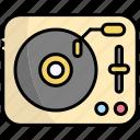 turntable, vinyl, record, music, sound, audio
