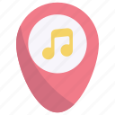 placeholder, location, music concert, music festival, pin, map