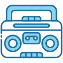 boombox, stereo, music, audio, speaker