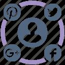 campaign, media, seo icons, seo pack, seo services, social, web design icon