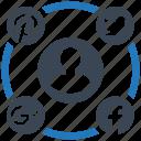campaign, media, mobile marketing, seo, seo pack, social, web design icon