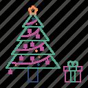 christmas, decoration, pine, tree, xmas
