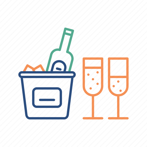 alcohol, celebration, champagne, christmas, drink, party icon