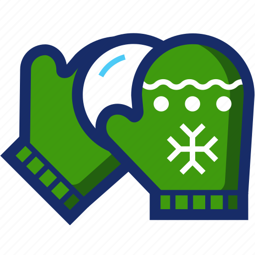 christmas, gloves, mittens, new year, snowball, xmas icon