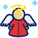 angel, christmas, holy, new year, saint, xmas icon