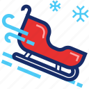 christmas, new year, sledge, sleigh, xmas icon
