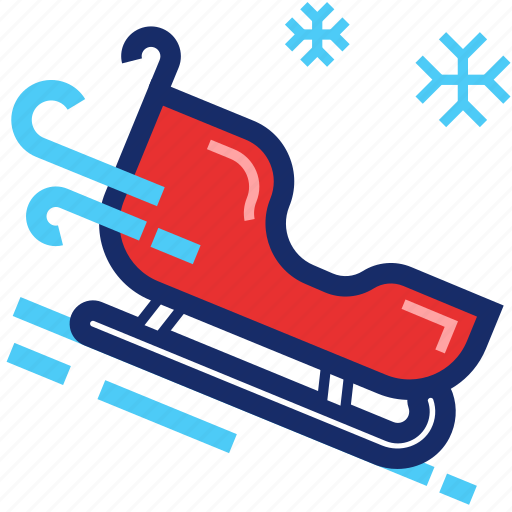 christmas, new year, sledge, sleigh, xmas icon