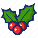 christmas, mistletoe, new year, ornament, xmas icon