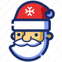 christmas, new year, santa, santa claus, xmas icon