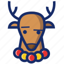 animal, christmas, deer, new year, xmas