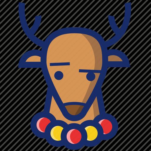 animal, christmas, deer, new year, xmas icon