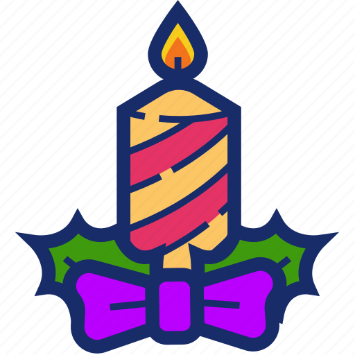 candle, christmas, new year, ornament, xmas icon