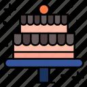 cake, sweet, birthday, dessert, bakery