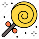 lollipop, candy, spiral, sweet, stick
