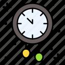clock, time, decoration, wall, pendulum icon
