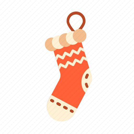christmas, christmas sock, new, present, santa, sock, year. holiday icon