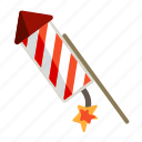 banger, christmas, firecracker, firework, fireworks, new, year. holiday icon