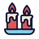 candle, christmas, decoration, holiday, light, new year eve, party icon