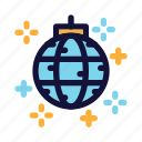 club, dance, disco, disco ball, lights, new year eve, party icon