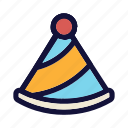 celebration, cone, fun, hat, holiday, new year eve, party icon