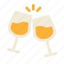 celebration, champagne, cheers, drink, new year eve, party, wine icon