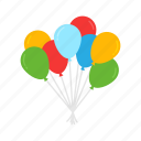 balloons, celebration, holidays, new year, party, party balloon, toy balloon icon