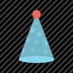birthday cap, ornament, party hat icon