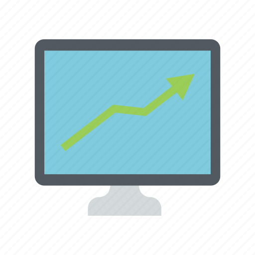 analysis, chart, device, display, lcd, statics, technology icon