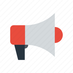 ads, advertising, audio, bullhorn, business, communication, horn icon