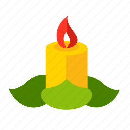 candle, christmas, fire, new year, wax icon