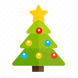 christmas, christmas tree, gift, new year, star icon