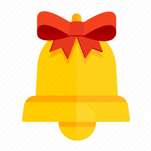 Bell, bow, christmas, gift, new year, ribbon icon - Download on Iconfinder