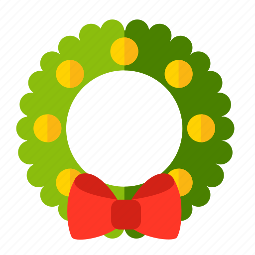 christmas, new year, wreath icon