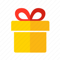 bow, box, christmas, gift, new year, ribbon icon