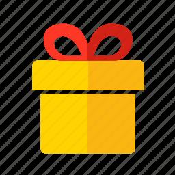 bow, box, christmas, gift, new year, ribbon icon