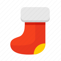 boots, christmas, fireplace, gift, new year, sock, stockings icon