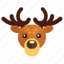 deer, christmas, new year icon