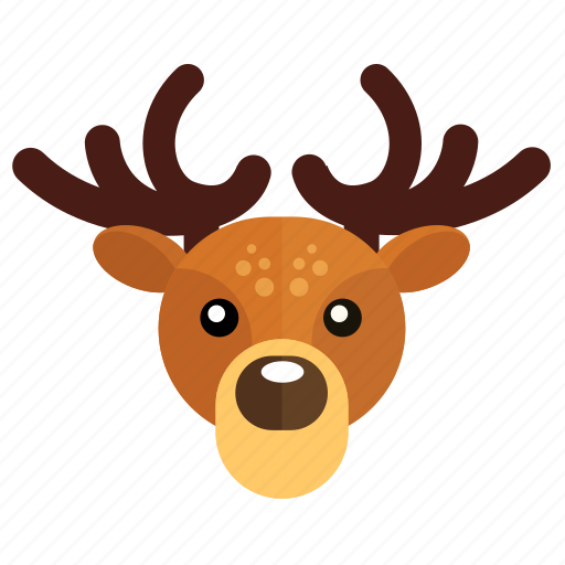 christmas, deer, new year icon