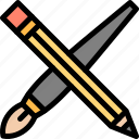 art, brush, creative, pencil icon
