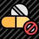 drugs, narcotics, pills, quit icon