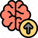 brain, learn, study, upgrade icon